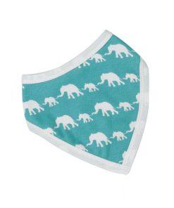 blue elephant bib