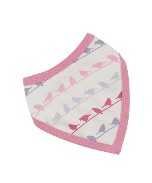 multi pink bird bib