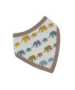 mustard elephant bib