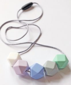 hexagon teething necklace