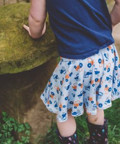 blue tractor skirt