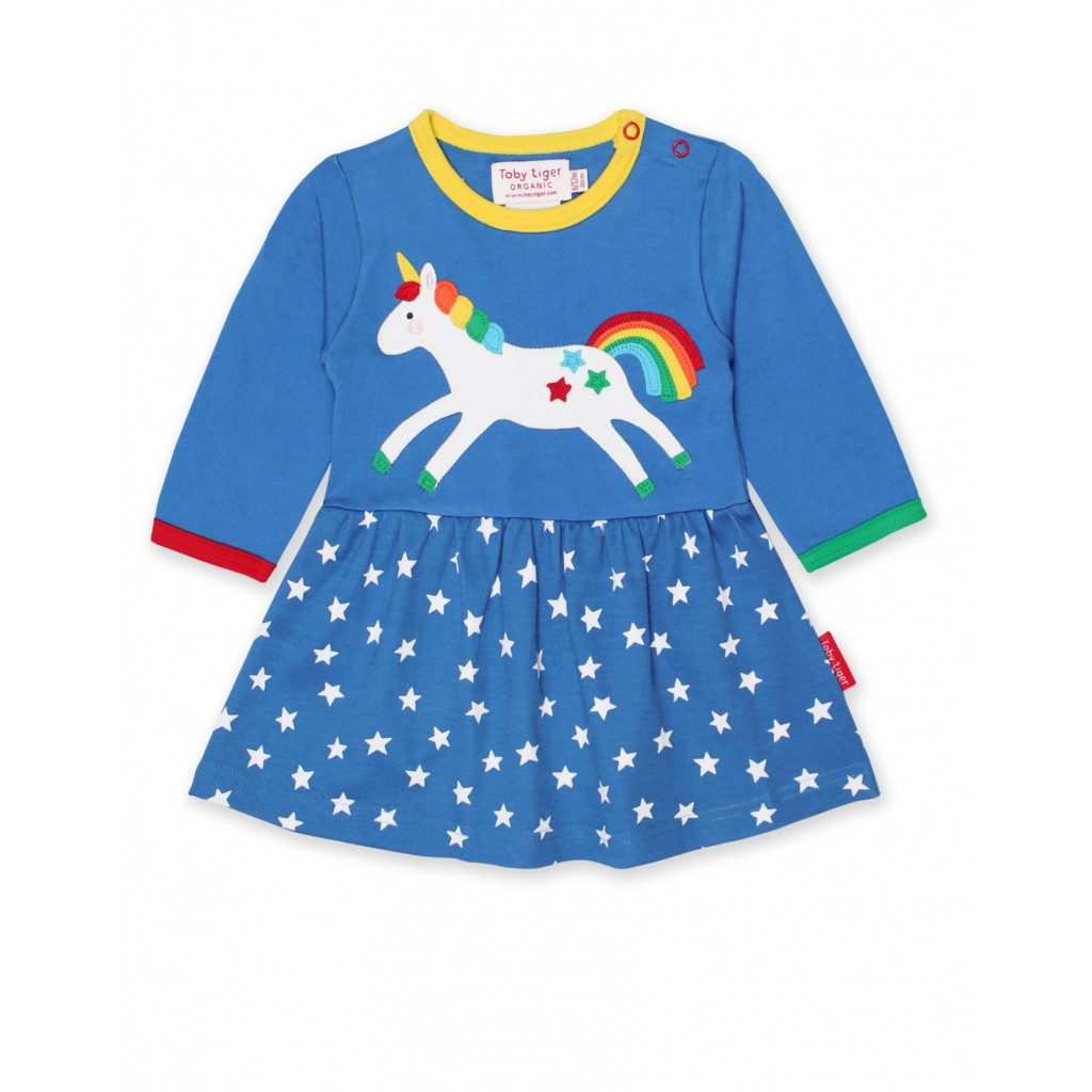 a70c1cf4d4864 Unicorn Dress From Toby Tiger Made From 100% Organic Cotton