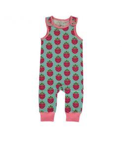 raspberry dungarees
